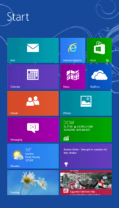 Section of Windows 8 Start Screen